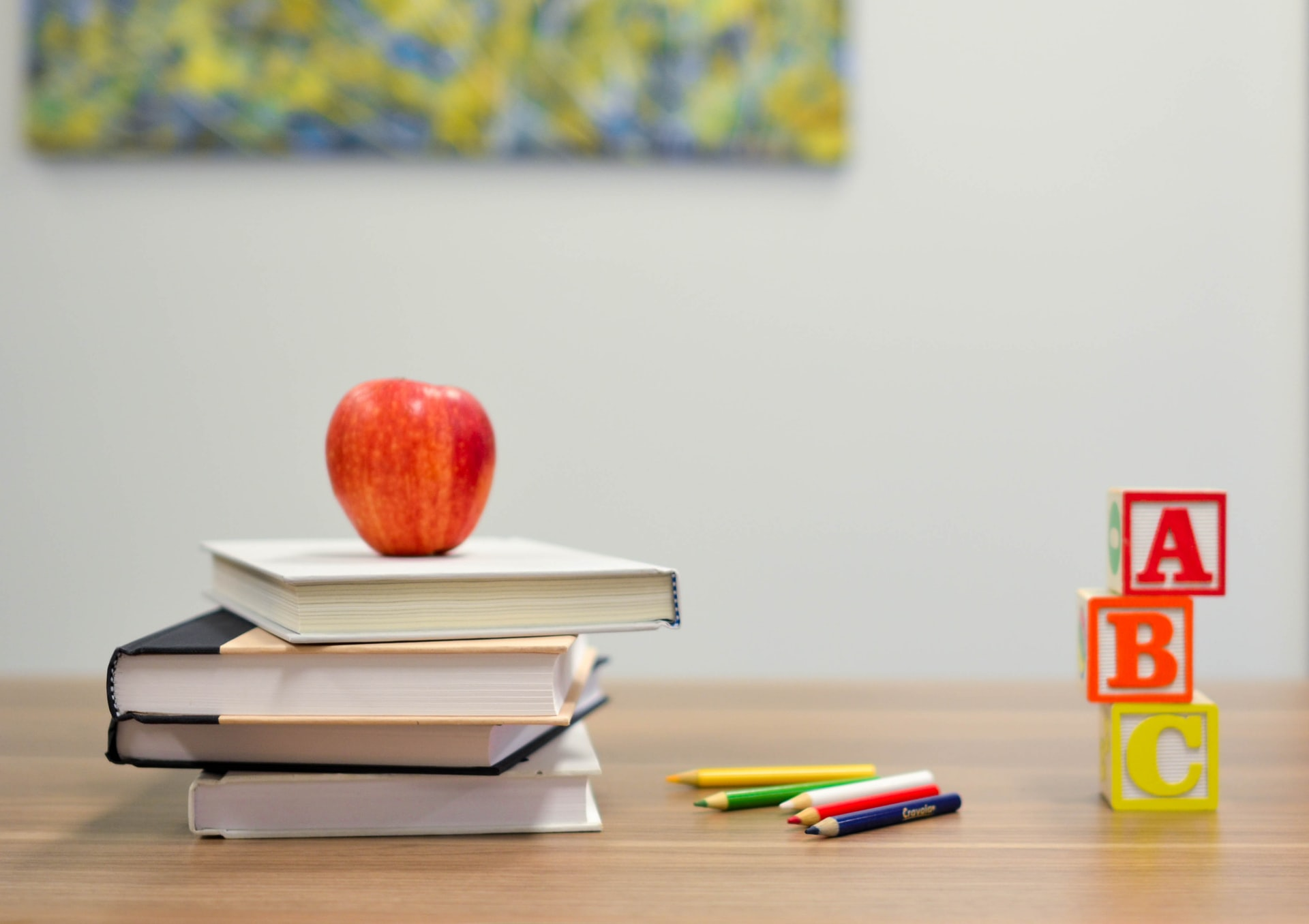 Education Themed Image With Textbooks